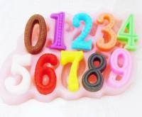 Силиконовая форма Цифры 0-9 2D 1 шт  - Все для мыла ручной работы - интернет-магазин Blesk-ekb.ru, Екатеринбург
