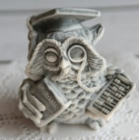 Силиконовая форма Сова БУХГАЛТЕР 3D, 1 шт - Все для мыла ручной работы - интернет-магазин Blesk-ekb.ru, Екатеринбург