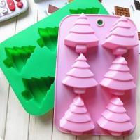 Силиконовая форма Елочка мини 6,5*6,5*2,5  6 шт - Все для мыла ручной работы - интернет-магазин Blesk-ekb.ru, Екатеринбург