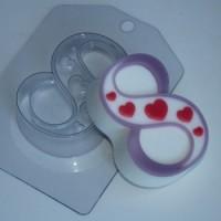Пластиковая форма Восьмерка сердечки 1 шт - Все для мыла ручной работы - интернет-магазин Blesk-ekb.ru, Екатеринбург