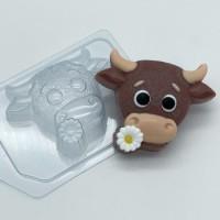 Пластиковая форма Бык с цветком, 1 шт - Все для мыла ручной работы - интернет-магазин Blesk-ekb.ru, Екатеринбург