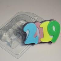 Пластиковая форма 2019 1 шт - Все для мыла ручной работы - интернет-магазин Blesk-ekb.ru, Екатеринбург