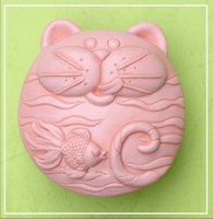 Силиконовая форма Голодный кот 2D 1шт - Все для мыла ручной работы - интернет-магазин Blesk-ekb.ru, Екатеринбург