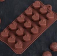 Набор мини форм Сердечки 2, 15 шт на листе - Все для мыла ручной работы - интернет-магазин Blesk-ekb.ru, Екатеринбург