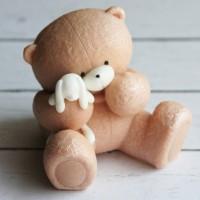 Силиконовая форма   Мишка Плюх с зайкой 3D 1 шт - Все для мыла ручной работы - интернет-магазин Blesk-ekb.ru, Екатеринбург