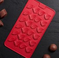 Набор мини форм Листочки   24 шт на листе - Все для мыла ручной работы - интернет-магазин Blesk-ekb.ru, Екатеринбург