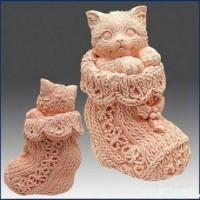 Силиконовая форма Кот в сапоге 3D 1 шт - Все для мыла ручной работы - интернет-магазин Blesk-ekb.ru, Екатеринбург