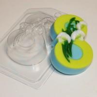 Пластиковая форма Восьмерка с подснежниками 1 шт - Все для мыла ручной работы - интернет-магазин Blesk-ekb.ru, Екатеринбург
