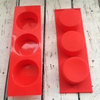 Силиконовая форма Шайба мини 4*1,8   3 шт  - Все для мыла ручной работы - интернет-магазин Blesk-ekb.ru, Екатеринбург