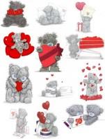 Водорастворимая бумага с печатью Мишки сердечки 1 шт - Все для мыла ручной работы - интернет-магазин Blesk-ekb.ru, Екатеринбург