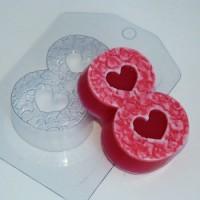 Пластиковая форма Восьмерка лепестки, 1 шт - Все для мыла ручной работы - интернет-магазин Blesk-ekb.ru, Екатеринбург