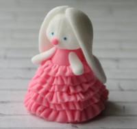 Силиконовая форма Зайка в платье 3D 1 шт - Все для мыла ручной работы - интернет-магазин Blesk-ekb.ru, Екатеринбург