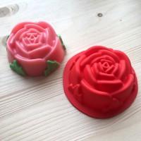 Силиконовая форма Роза с листьями 7х7х3 1 шт - Все для мыла ручной работы - интернет-магазин Blesk-ekb.ru, Екатеринбург
