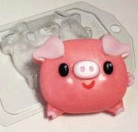 Форма пластиковая Свинка пухляшка 1 шт - Все для мыла ручной работы - интернет-магазин Blesk-ekb.ru, Екатеринбург