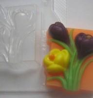 Пластиковая форма Крокусы 1 шт - Все для мыла ручной работы - интернет-магазин Blesk-ekb.ru, Екатеринбург