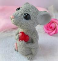 Силиконовая форма Мышка с сердцем 3D 1 шт - Все для мыла ручной работы - интернет-магазин Blesk-ekb.ru, Екатеринбург