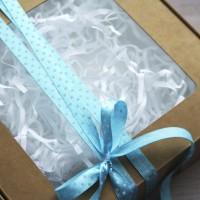 Лента атласная Белый горошек на голубом 1 метр - Все для мыла ручной работы - интернет-магазин Blesk-ekb.ru, Екатеринбург