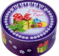Коробка круглая ПОДАРОК 15 х 15 х 7 см,  1 шт - Все для мыла ручной работы - интернет-магазин Blesk-ekb.ru, Екатеринбург
