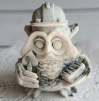 Силиконовая форма Сова СТРОИТЕЛЬ 3D, 1шт - Все для мыла ручной работы - интернет-магазин Blesk-ekb.ru, Екатеринбург