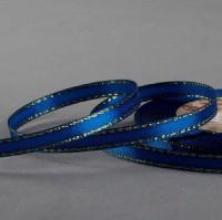 Синяя с люрексом атласная лента 1 м - Все для мыла ручной работы - интернет-магазин Blesk-ekb.ru, Екатеринбург