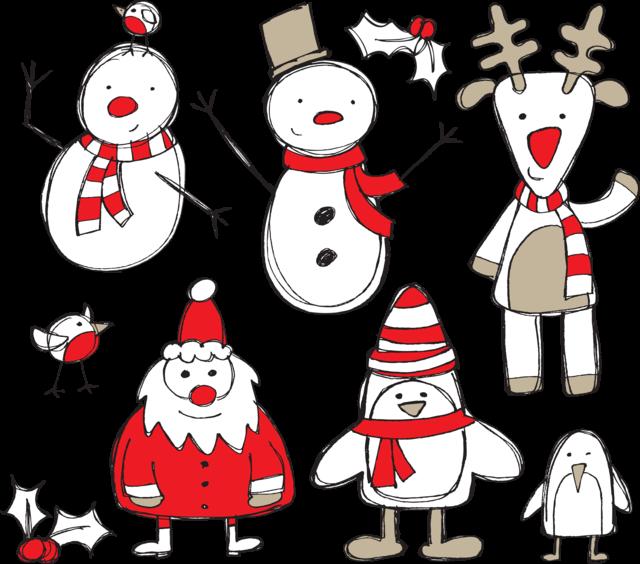 Рисунки для распечатки для нового года